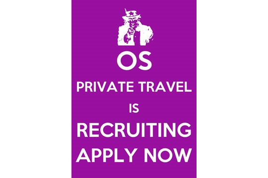 Travel Consultant Positions Available at OS Private Travel (UK based)